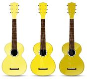 Yellow classical acoustic guitar Stock Photography