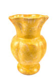 Yellow clay flower vase Royalty Free Stock Photography