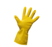 Yellow cleaning glove Stock Photography