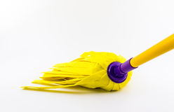Yellow cleaning mop for floor. Stock Images
