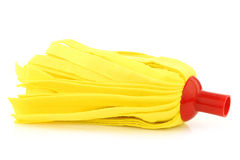 Yellow cleaning mop Stock Photos