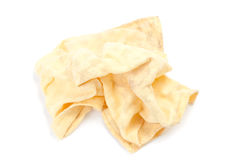 Yellow cleaning rag Royalty Free Stock Photos