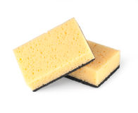 Yellow cleaning sponge Royalty Free Stock Image