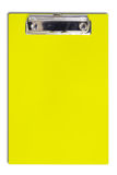 Yellow clipboard for text and background Royalty Free Stock Photography