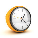 Yellow clock Stock Photography