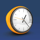 Yellow clock Royalty Free Stock Images