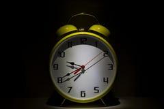 Yellow clock Stock Photography