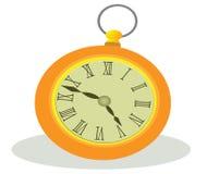 Yellow Clock Stock Image