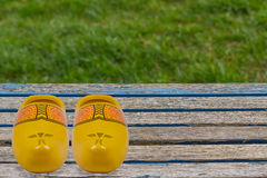 Yellow Clogs Royalty Free Stock Image