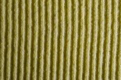 Yellow cloth lines. Macro view of yellow sponge cloth Stock Photos