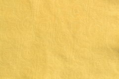 Yellow cloth texture Stock Photography