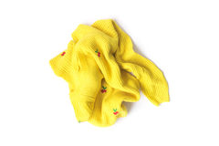 Yellow Clothes color wait for clean washed. Workhouse concept Royalty Free Stock Photo