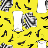 Yellow clothes seamless pattern Royalty Free Stock Image
