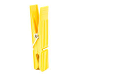 Yellow Clothespin Royalty Free Stock Photo