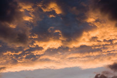 Sunset clouds royalty free stock photography