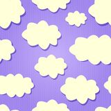 Yellow Clouds in Purple Sky. Stock Photography