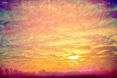 Yellow clouds on sunset. Royalty Free Stock Photo