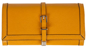 Yellow clutch bag Royalty Free Stock Image