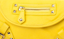 Yellow clutch isolated on white background. Royalty Free Stock Photos