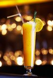 Yellow cocktail Royalty Free Stock Photos
