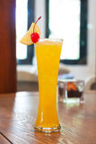 Yellow cocktail Royalty Free Stock Photo