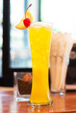 Yellow cocktail Stock Photography