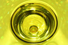 Yellow Cocktail. In a clear glass royalty free stock photo