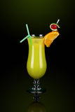 Yellow cocktail with decoration Stock Photo