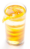 Yellow cocktail in glass Stock Photography