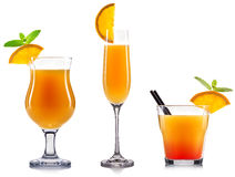 Yellow cocktail isolated Stock Image