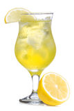 Yellow cocktail with lemon royalty free stock photos