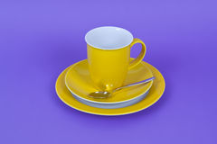 Yellow coffee cup Royalty Free Stock Image