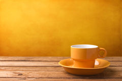 Yellow coffee cup Royalty Free Stock Photo