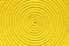 Yellow coil. Closeup photo of yellow coil Royalty Free Stock Photos