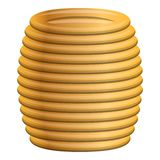 Yellow coil cable icon, cartoon style royalty free illustration