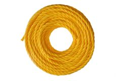 Yellow coiled rope Stock Photography
