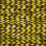 Yellow coins texture vector illustration