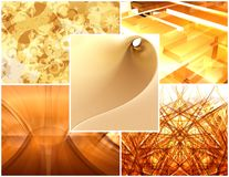 Yellow collage Royalty Free Stock Images