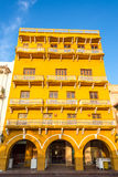 Yellow Colonial Architecture Royalty Free Stock Photos