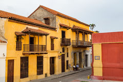 Yellow colonial building Royalty Free Stock Photo