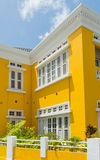 Yellow Colonial House Royalty Free Stock Images