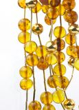 Yellow color beads chain Stock Photo