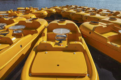 Yellow color boats Royalty Free Stock Image