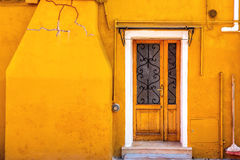 Yellow color of Burano Royalty Free Stock Image