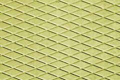 Yellow color cement floor with rhombus pattern. Royalty Free Stock Image
