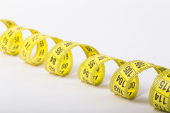 Yellow color centimeter with black figures for measurement of le Royalty Free Stock Photo
