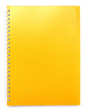 Yellow color cover note book Royalty Free Stock Image