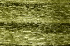 Yellow color crepe paper. Royalty Free Stock Image