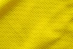 Yellow color football jersey clothing fabric texture Royalty Free Stock Images