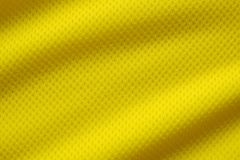 Yellow color football jersey clothing fabric texture Royalty Free Stock Photo